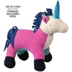 Cate and Levi 22 Handmade Unicorn Stuffed Animal (Premium Reclaimed Wool), Colors Will Vary Pet Toys, Baby Toys, Kids Toys, Handmade Baby, Handmade Toys, Baby Shower Gifts, Baby Gifts, Mom Gifts, Unicorn Stuffed Animal