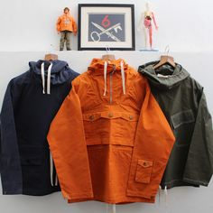 Left to right: Convoy smock, Tryfan anorak & Gunners smock, all by Hawkwood Mercantile. Contact: richard@hawkwoodmercantile.com