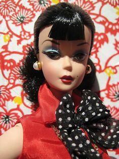 Portrait of a Creative Brunette  Barbie.