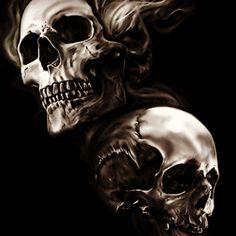 42 Best Cover Up Tattoo Ideas for Men and Women # Ideas … – Tattoo Designs Girly Skull Tattoos, Evil Skull Tattoo, Skull Sleeve Tattoos, Demon Tattoo, Skull Tattoo Design, Tattoo Designs, Tattoo Ideas, Totenkopf Tattoos, Sugar Skull Art