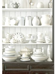 All white china - nice!