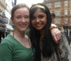 Charlotte and the actress who played Padma Patil