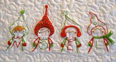 Christmas quilted Noel wall hanging | Sewn Up by TeresaDownUnder