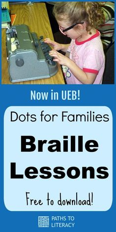 Dots for Families Braille Lessons Basic Math Problems, Alfabeto Braille, Visually Impaired Activities, Braille Reader, Braille Alphabet, We Are Teachers, Hobbies And Interests, Visual Impairment, Educational Activities