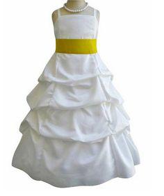 Flower Girl Dress  IVORY Pickup Skirt Dress Double by LuuniKids