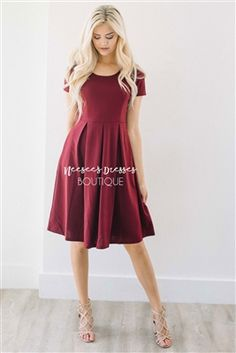Beautiful Burgundy Modest Bridesmaids Dress, Vintage Dress, Church Dresses, dresses for church, modest bridesmaids dresses, trendy modest, modest office clothing, affordable boutique dresses, cute modest dresses, mikarose, trendy boutique