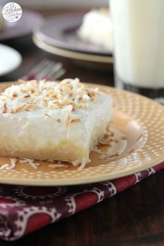 Coconut Cream Pie Bars Completely From Scratch l www.a-kitchen-addiction.com
