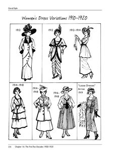 Women's dress variations, 1910-1920...  Page 226 from OOS_CS_Rev_1_ISBN_9780983576198-2