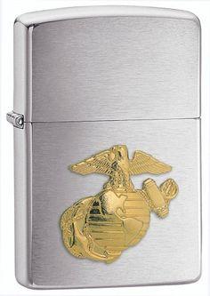 Zippo Marines Emblem Pocket Lighter