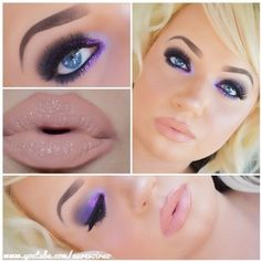 Purple eyes and nude lips are always a great match!