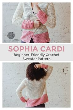 Make the easy, beginner friendly Sophia Cardi as the perfect layering piece in spring and summer. Featuring minimal shaping, bold color-blocking, and feminine lace stitching.   New pattern from TL Yarn Crafts