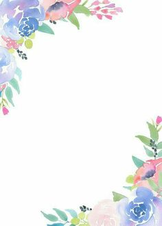 Floral Frame Clipart flower arrangement which could be used for pre-made invites, bridal shower invitations or any number of diy design projects. Check out my Etsy shop for more watercolor floral illustrations. Flower Background Wallpaper, Flower Backgrounds, Wallpaper Backgrounds, Frame Border Design, Page Borders Design, Frame Clipart, Floral Border, Flower Frame, Summer Flowers
