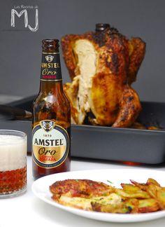 Pollo sentado a la cerveza / Chicken beer can