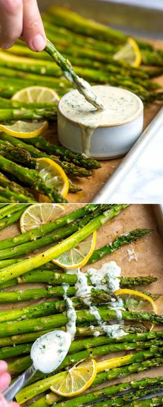 Inspired Taste – Easy Recipes for Home Cooks This roasted asparagus recipe is a simple, fast side dish. The asparagus is perfectly tender with slightly crispy tips. Parmesan Roasted Cauliflower, Roasted Potatoes, Sliced Potatoes, Homemade Tahini, Side Dishes For Chicken, Easy Thanksgiving Recipes, Whole Roasted Chicken, Cooked Cabbage, Roast Chicken Recipes