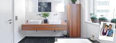 Elegant with lots of storage could we redue baths with Bamboo and cool sinks.  Float above floor to give illusion of more space.  Upgrade counters and floors to something natural so it feels more Hawaiian.