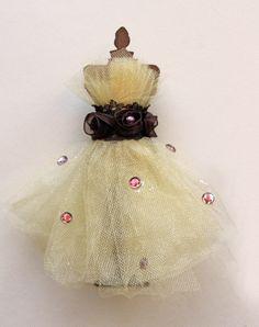 Tim Holtz Dress Form - Enchanted Autumn Dress Form and Flower Set Scrapbook Embellishment Card Tag Mini Album Wedding Tim Holtz Prima. $7.75, via Etsy.