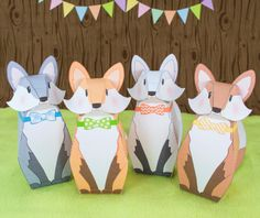 Introducing our Fancy Fox Printable Party Favors that you create yourself! These handsome bow-tie foxes are all dressed up and ready for a
