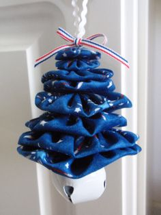 Patriotic Firework Print Jingle Bell Yo Yo Ornament by SursyShop, $5.00