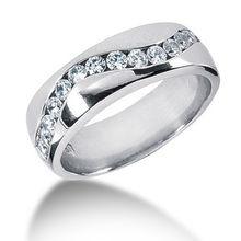 Channel-Set Diamond Twist Wedding Band