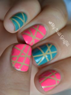 Laser nail art  {Do it in red and black and it'll look like Mission Impossible!}