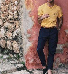 Mens Fashion Smart – The World of Mens Fashion Trendy Mens Fashion, Looks Style, Men's Style, Men Casual, Casual Attire, Fashion Design, Men's Fashion, Fashion Shirts, Fashion Rings