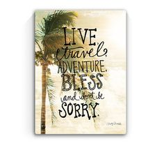9x12 Live Travel Adventure  Handscripted by MistyMichelleDesign, $22.00