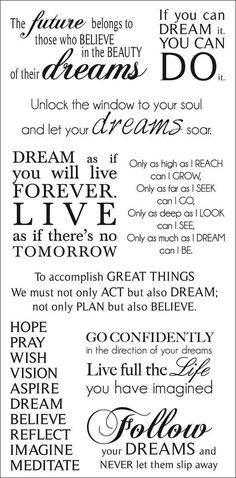 Dreams Rub-On Quotes 471422