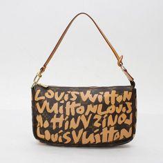 Louis Vuitton Pochette Accessoires Monogram Graffiti Handle bags Brown Canvas…