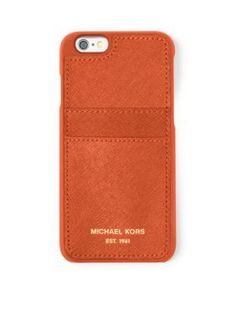 MICHAEL Michael Kors Orange Electronic Leather Phone Cover for iPhone174 66s