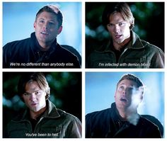 Winchester brothers----Sam telling it like it is. Gotta love his blunt honesty. ;)