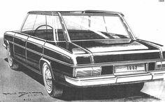 OG | Mercedes-Benz W123 | Early design sketch by Paul Bracq