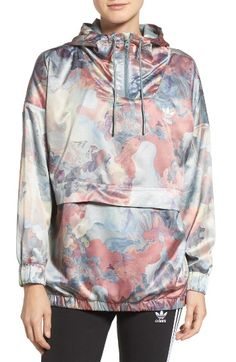 Free shipping and returns on adidas Originals Satin Pullover at Nordstrom.com. Oil-painted pastels marble this light-catching pullover with sporty tracksuit styling.