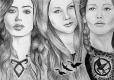 Clary Tris Katniss Leading characters from great book series. The drawings are of the characters in the film representations. The Mortal Instruments: City of Bones➰ Divergent The Hunger Games Drawing Hunger Games Drawings, Divergent Drawings, Hunger Games Movies, City Of Bones, Drawing People, Drawing Girls, Katniss Everdeen, The Mortal Instruments, Book Fandoms