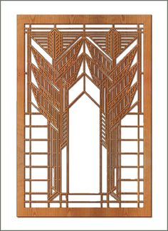 Frank Lloyd Wright Double Dana Sumac Wood Art Screen Wall Panel. Would need suspension or a stand.