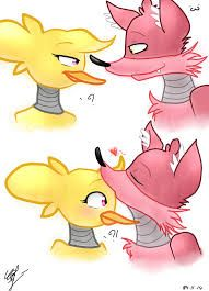 Image result for fnaf is foxy and chica in love