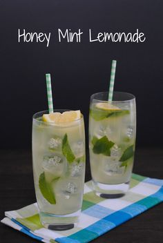 Honey Mint Lemonade - A simple homemade lemonade that pairs beautiful with savory foods, or is great enjoyed on it's own! | foxeslovelemons.com