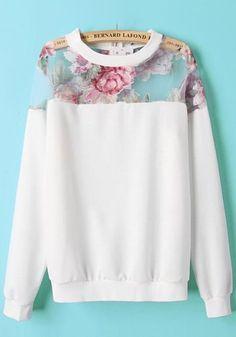3f574fa3f277 Multicolor Patchwork Print Long Sleeve Hoodie Plain Sweatshirts