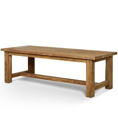 Raft furniture make reclaimed teak furniture, we stock many styles of dining tables, one of our most popular styles is the Refectory Dining Table Natural Teak, this elongated dining table comes in four sizes and is available in a dark teak finish Natural Wood Dining Table, Long Dining Room Tables, Teak Dining Table, Table And Chairs, Recycled Wood Furniture, Teak Furniture, Woman Bedroom, Best Sofa, Furniture Inspiration