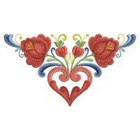 Rosemaling Roses - Ace Points | OregonPatchWorks