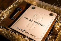 Dishcourse Invite we printed is on The Beauty of Letterpress site.