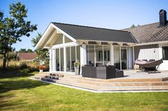 House Extension Design, Extension Designs, Cottage Patio, Outdoor Living, Outdoor Decor, House Extensions, In Ground Pools, Great Rooms, Home Interior Design