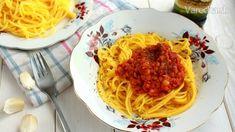Špagety s červenou šošovicou - Recept