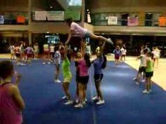 Turn around to a lib Easy Cheer Stunts, Cheerleading Tips, Cheer Moves, Cheer Routines, High School Cheerleading, Cheer Workouts, Gymnastics Stunts, Cheer Pyramids, Cheerleading Pyramids