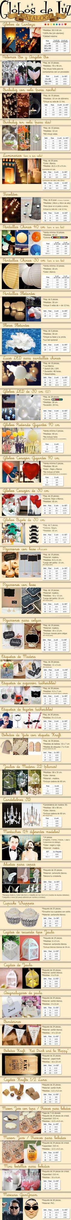 Globos de Cantoya - Catalogo de productos / / Ideas originales para decorar boda / decoracion fiestas / eventos / Globos de Luz México / COMPRA AQUÍ: www.globosdeluz.com ventas@globosdeluz.com