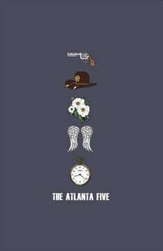 "The Atlanta 5 ""Logo's"" The Atlanta 5: from top: Rick, Carl, Carol, Daryl, &  Glenn https://www.facebook.com/groups/596995060433345/"