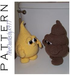 BAHAHAHAHA!!!!! The things you come across while pinning! Who is tempted to give these a whirl??              ;) CROCHET PATTERN  Piddle n Poo  No.1 / No.2 by FiberDoodlesbyK4TT, $5.20