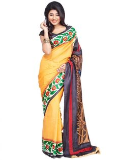 Modern Art Hand Painted Silk Saree Buy Online shopping to buy original modern aat hand painted silk saree in india. Wear dynamic and young style gorgeous designer saree to impress from Indian. - http://www.click2door.com/women/ethnic-wear/sarees/hand-painted-silk-saree-cbd105