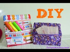 DIY Estojo de tecido sem costura - YouTube