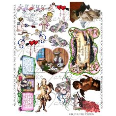 Busy Little Cupids Digital Collage Sheet. $3.00, via Etsy.