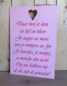 Bord Daar ben je dan Godchild, My Pregnancy, Welcome Baby, Kids And Parenting, Baby Gifts, Best Quotes, Texts, Birth, Diy And Crafts